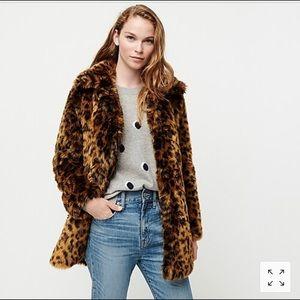 Jcrew leopard coat size medium tags on